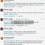Twitter Konversation Brunner / Lange